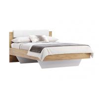 Кровать двуспальная MM-AST-126 Глянец Белый-Дуб Крафт