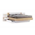 Кровать двуспальная MM-AST-128 Глянец Белый-Дуб Крафт: фото - Margo.ua