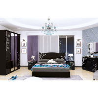 Спальня MM-BGM-523 Глянец Черный