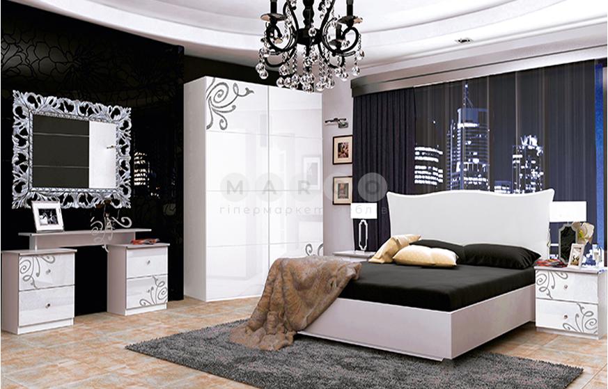 Кровать двуспальная MM-BGM-536 Глянец Белый: фото - Margo.ua