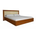 Кровать двуспальная MM-BL-843 Глянец Ваниль-Вишня Бюзум: фото - Margo.ua