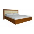 Кровать двуспальная MM-BL-840 Глянец Ваниль-Вишня Бюзум: фото - Margo.ua