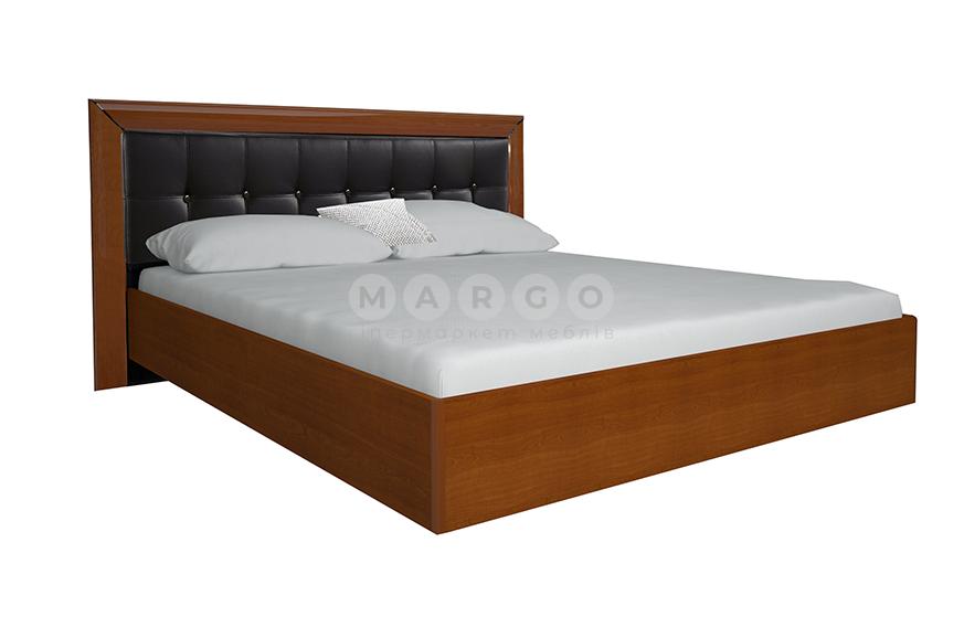 Кровать двуспальная MM-BL-841 Глянец Черный-Вишня Бюзум: фото - Margo.ua