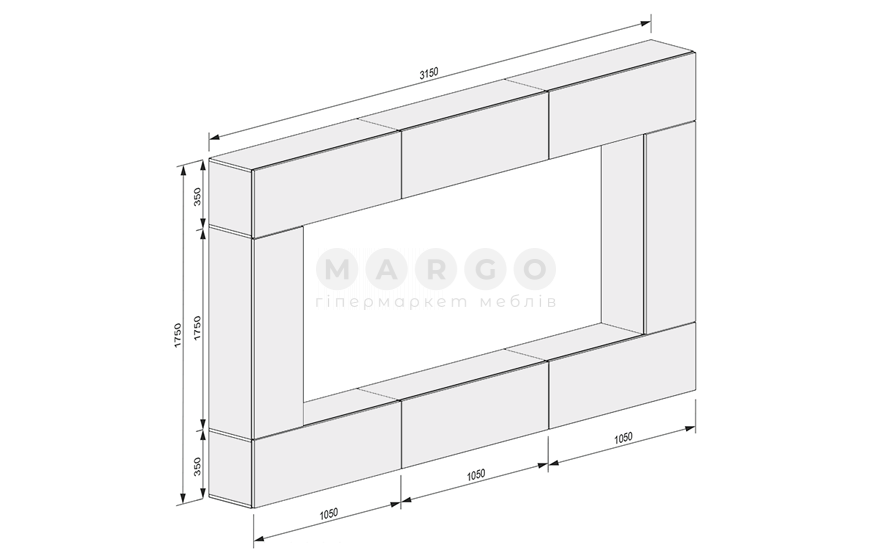 Стенка MM-BX-498 Глянец Белый: фото - Margo.ua