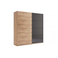 Шкаф-купе 200 см (двери дуб крафт-мат скамья) MM-LNA-285