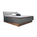 Кровать двуспальная MM-LNS-241 Серый Шифер-Дуб Вотан: фото - Margo.ua
