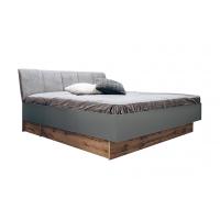 Кровать двуспальная MM-LNS-241 Серый Шифер-Дуб Вотан