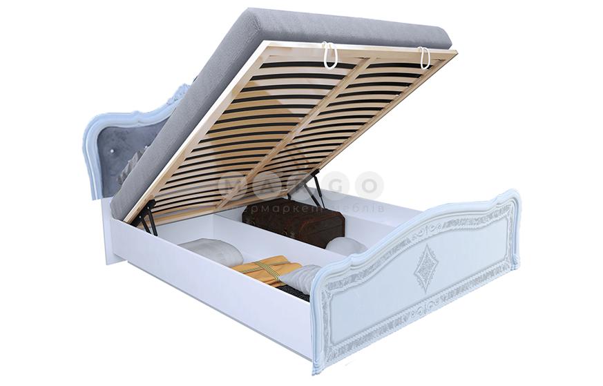 Кровать двуспальная MM-LZA-256 Глянец Белый: фото - Margo.ua