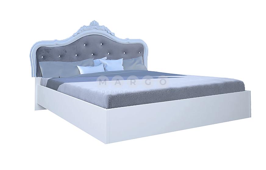 Кровать двуспальная MM-LZA-251 Глянец Белый: фото - Margo.ua