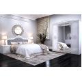 Кровать двуспальная MM-LZA-254 Глянец Белый: фото - Margo.ua