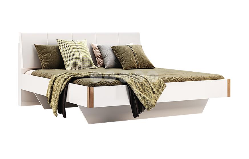 Кровать двуспальная MM-NK-299 Глянец Белый-Дуб Крафт: фото - Margo.ua