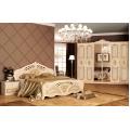 Кровать двуспальная MM-RJG-368 Радика Беж-Золото: фото - Margo.ua