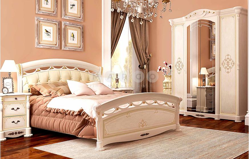 Кровать двуспальная MM-RSL-658 Радика Беж: фото - Margo.ua