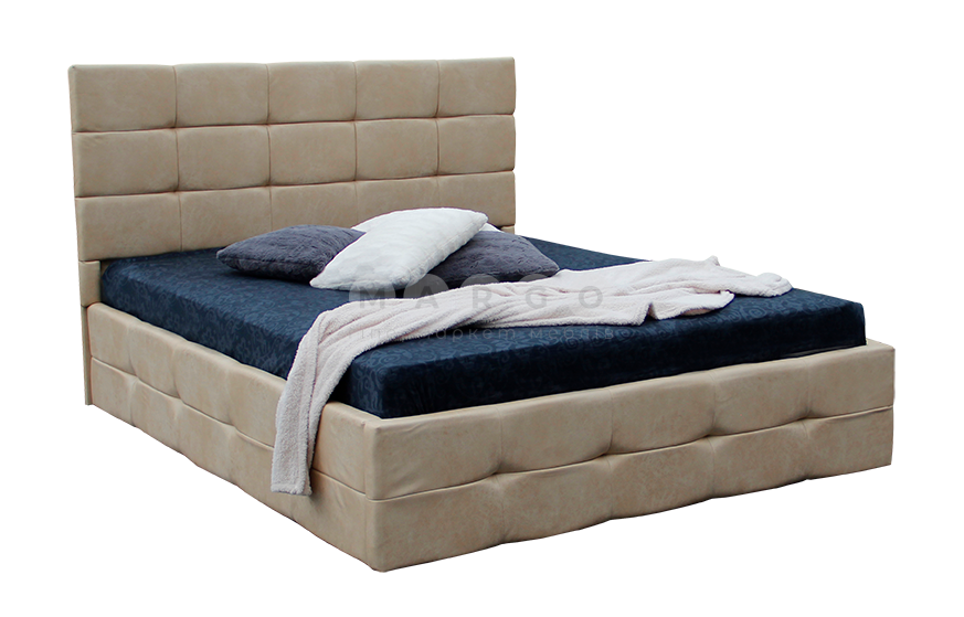 Кровать двуспальная MM-BRS-61 Бежевый: фото - Margo.ua