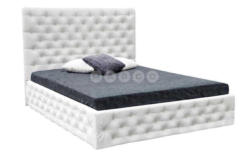 Кровать двуспальная MM-DIN-107 Белый: фото - Margo.ua