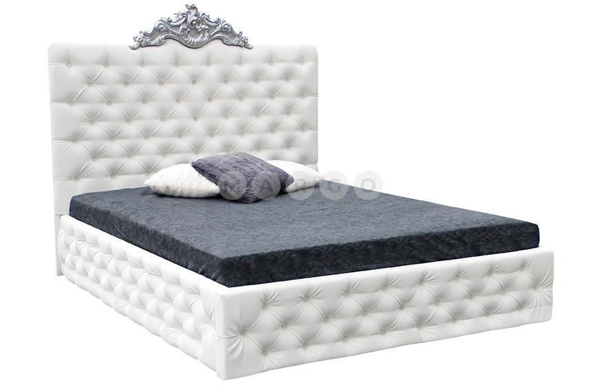 Кровать двуспальная MM-DIN-79 Белый: фото - Margo.ua