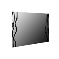 Зеркало навесное MM-TRR-42 Глянец Белый-Черный Мат