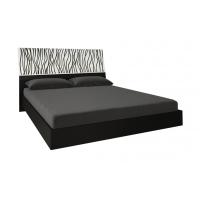 Кровать двуспальная MM-TRR-418 Глянец Белый-Черный Мат