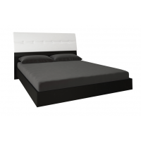 Кровать двуспальная MM-TRR-421 Глянец Белый-Черный Мат