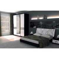 Спальня MM-TRR-413 Глянец Белый-Черный Мат