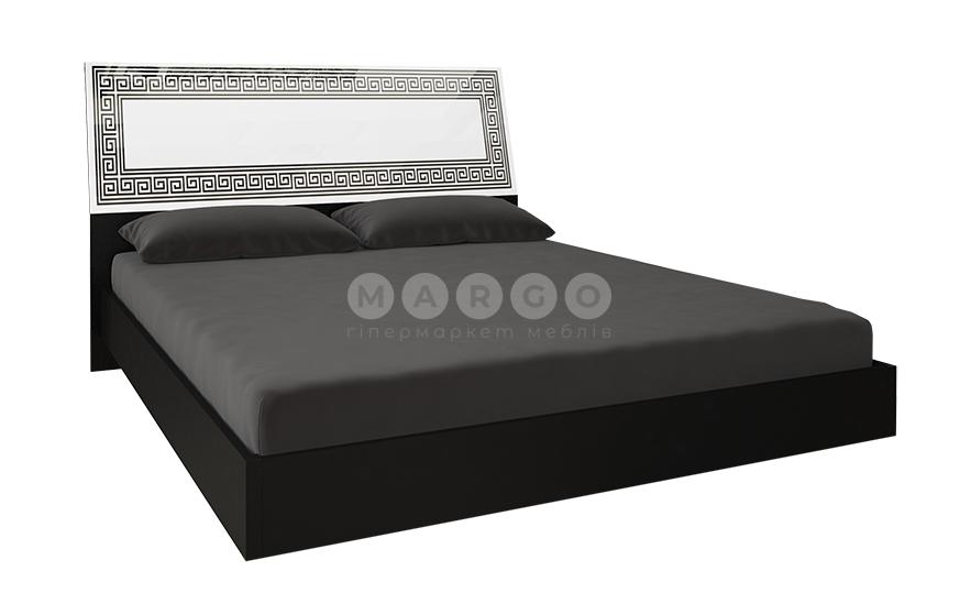 Кровать двуспальная MM-VLA-179 Глянец Белый / Черный Мат: фото - Margo.ua