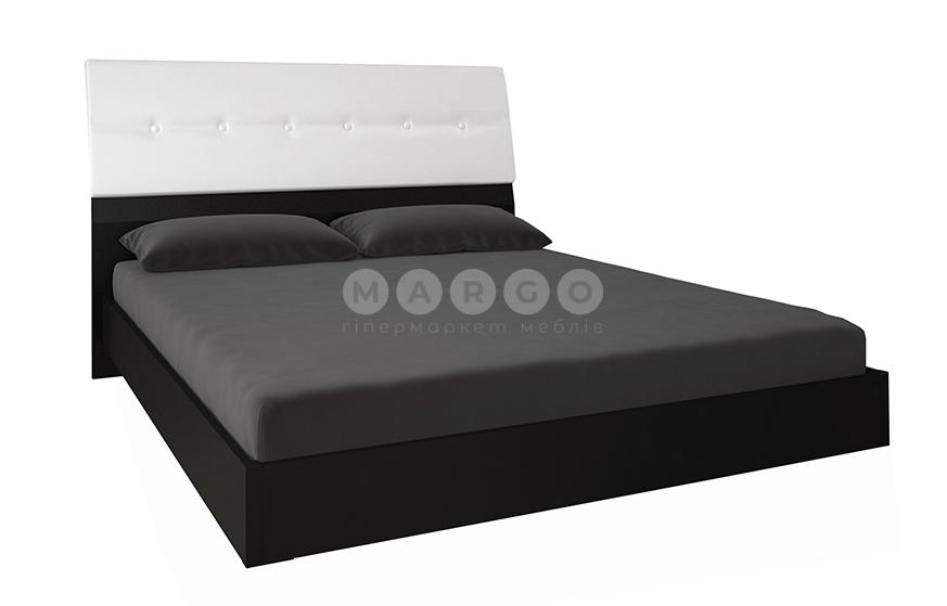 Кровать двуспальная MM-VLA-182 Глянец Белый-Черный Мат: фото - Margo.ua