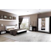 Спальня MM-VLA-175 Глянец Белый / Черный Мат