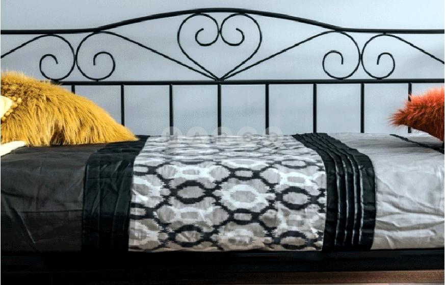 Кровать двуспальная SGL-BRM-482 Черная: фото - Margo.ua