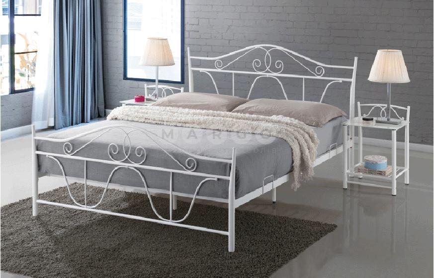 Кровать двуспальная SGL-DNV-492 Белая: фото - Margo.ua