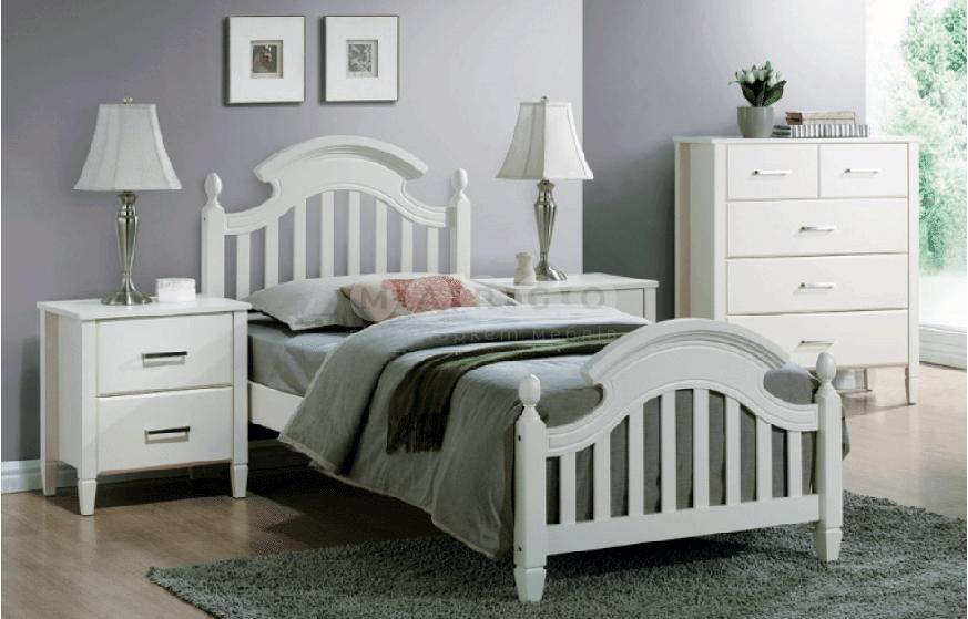 Кровать односпальная SGL-LZBONA-510 Белая: фото - Margo.ua