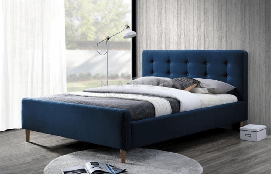 Кровать двуспальная SGL-PNK-534 Синий: фото - Margo.ua
