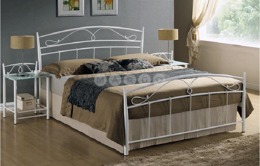Кровать двуспальная SGL-SNA-540 Белая: фото - Margo.ua
