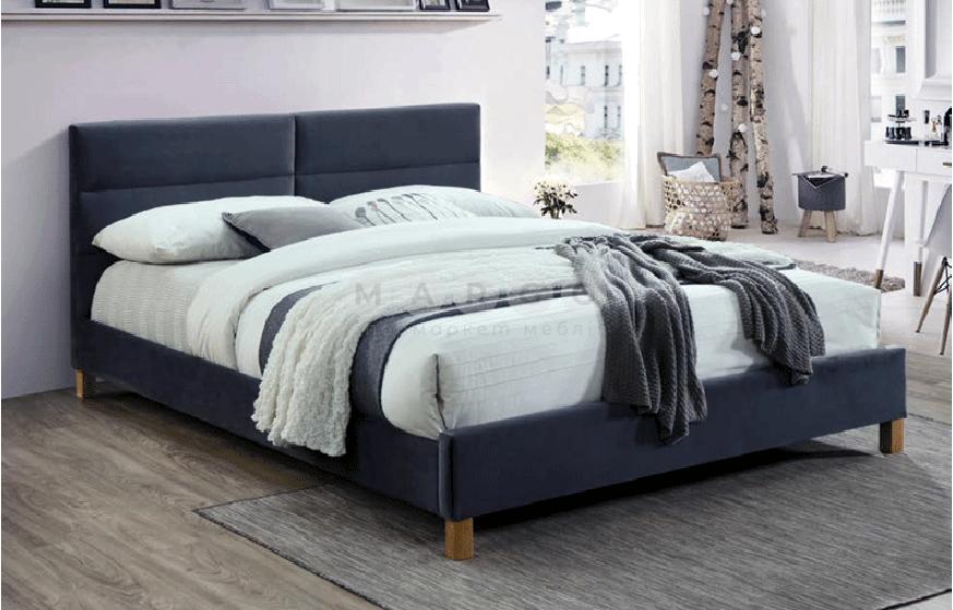 Кровать двуспальная SGL-SRRV-541 Серая: фото - Margo.ua