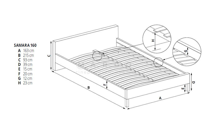 Кровать SAMARA 160: фото - Margo.ua