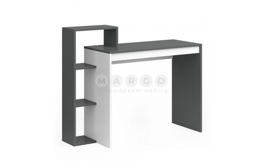 Стіл 110H графіт/білий графіт/білий 40: фото - Margo.ua