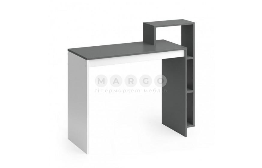 Стол 110H графит/белый графит/белый 40: фото - Margo.ua