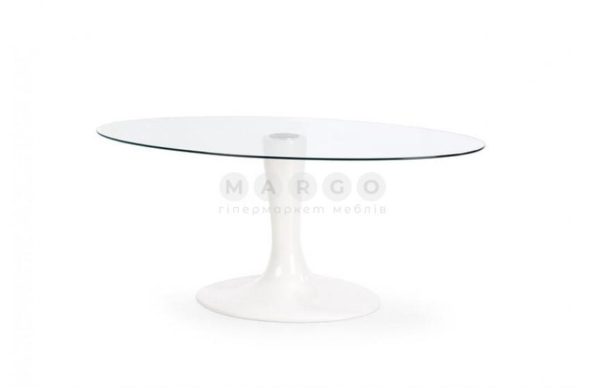 Стол CORAL прозрачный/белый 100: фото - Margo.ua