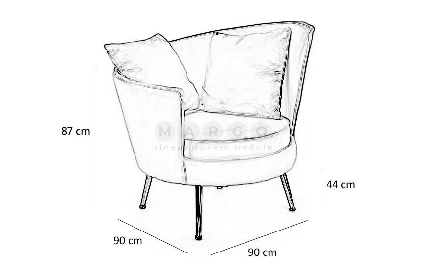 Кресло ALMOND розовый 87: фото - Margo.ua