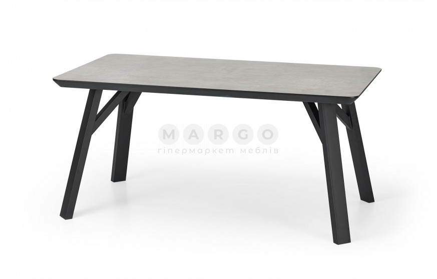 Стол HALIFAX бетон/черный бетон/черный 90: фото - Margo.ua