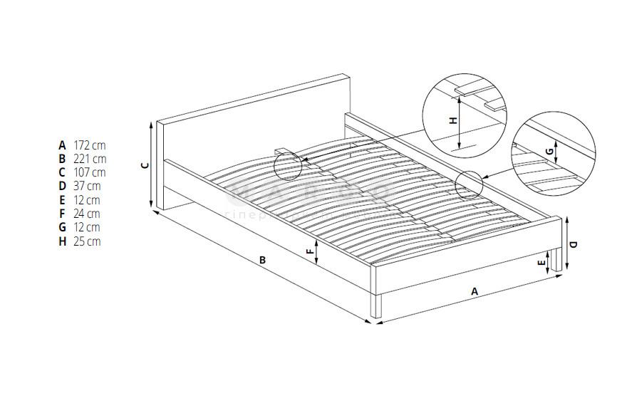 Кровать SOFIA 160: фото - Margo.ua