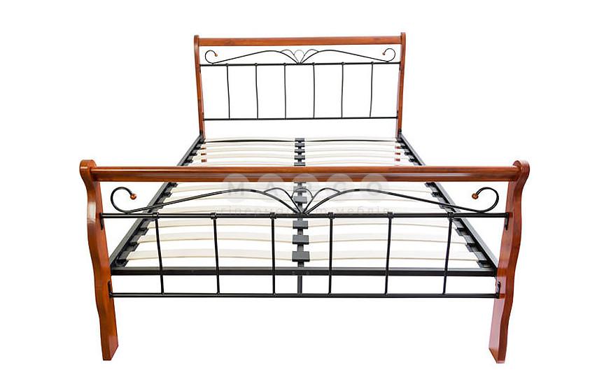 Кровать VERONICA 160 черешня античная черешня античная/черный 101: фото - Margo.ua