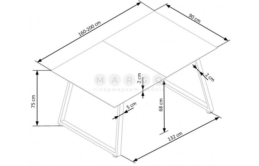 Стол THOMAS белый/бетон белый/бетон 75: фото - Margo.ua