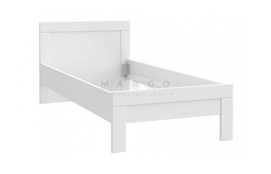 Кровать 0,9 SNOW белый матовый 80,8: фото - Margo.ua