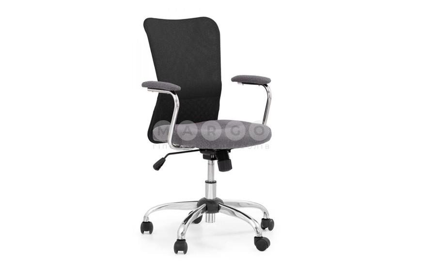 Кресло ANDY черный/серый черный/серый 87-95: фото - Margo.ua