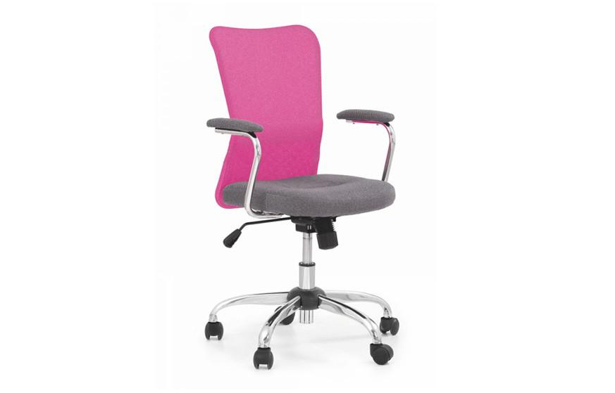 Крісло ANDY рожевий/сірий