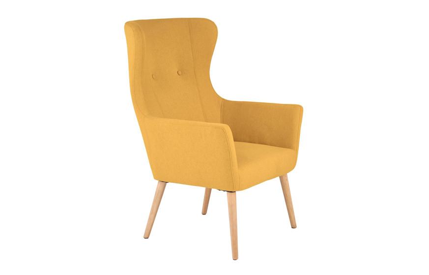 Кресло COTTO горчичный