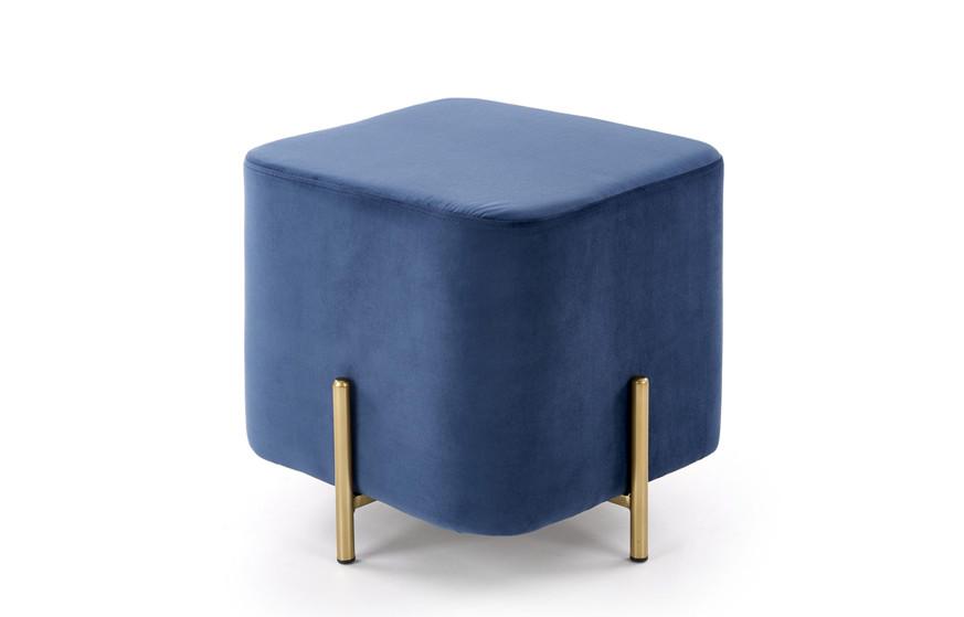 Пуф CORNO темно-синій/золотий