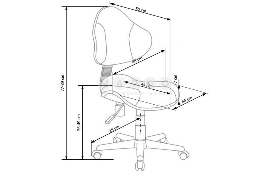 Кресло FLASH 2 серый/розовый серый/розовый 77-89: фото - Margo.ua