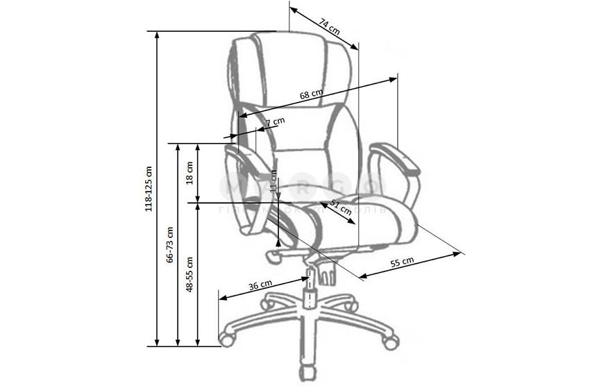 Кресло FOSTER коричневый 118-125: фото - Margo.ua