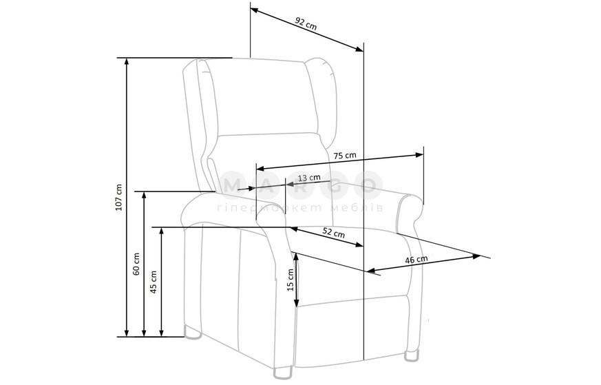 Кресло AGUSTIN 2 горчичный 107-83: фото - Margo.ua